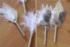 DIY: A Burlap Boutonniere | Green Wedding Shoes Wedding Blog | Wedding Trends for Stylish + Creative Brides