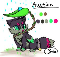 Auction - Leaf canine - money/ points! CLOSED by RainSoda.deviantart.com on @DeviantArt