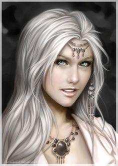 Half Human-Half Elf ~ by omupied Fantasy Portraits, Character Portraits, Character Art, Fantasy Artwork, Character Ideas, Fantasy Art Women, Fantasy Girl, Fantasy Characters, Female Characters