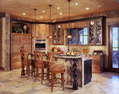 Rustic Kitchen Design Ideas With Interior Rustic Kitchen Lighting Design Ideas Fixeldesign Rustic Kitchen Rustic Lighting Ideas Rustic Italian Decor, Rustic Wood Decor, Rustic Country Kitchens, Rustic Kitchen Island, Rustic Kitchen Cabinets, Rustic Kitchen Design, Rustic Homes, Rustic Style, Primitive Kitchen