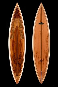 Beautiful Koa wood surfboard at www.martinandmacarthur.com