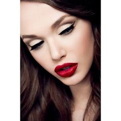 makeup perfection, luv this bold matte red lip color..