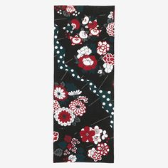 """Tenugui"""" Japanese traditional Japanese tea towel will be great decoration for your room. Hand Towels, Tea Towels, Textile Fabrics, Japanese Prints, Traditional Japanese, Repeating Patterns, Floral Tie, Decoration, Illustration"""