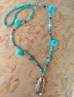 Turquoise Necklace, Jewelry, Amor, Manualidades, Jewellery Making, Jewelery, Jewlery, Jewels, Jewerly