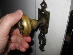 Cleaning and Repairing an Antique Mortise Door Lock Bronze Door Knobs, Antique Door Knobs, Mortise Door Lock, Local Hardware Store, Home Repairs, Door Locks, Door Handles, How To Remove, Cleaning