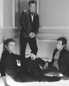 Chuck Bass, Nate Archibald and Dan Humphrey- Gossip Girl Gossip Girls, Nate Gossip Girl, Estilo Gossip Girl, Nate Archibald, Chuck Bass, Dan Humphrey, Ryan Gosling, Blake Lively, Beautiful Men