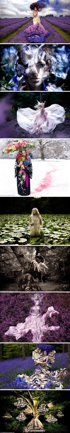 By Kirsty Mitchell. Her mother died of brain tumor on 2008. In the months that followed real life became a difficult place for her to deal with. Eventually, she took those wonderland photos to echo the fragments of the fairytales her mother read to her when she was a child.