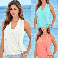 448c963457e76 Fashion Women Summer Vest Top Sleeveless Blouse Casual Tank Tops T-Shirt  Blouse Casual T