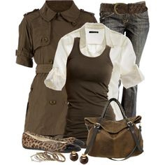Short Sleeved Trench, created by daiscat on Polyvore