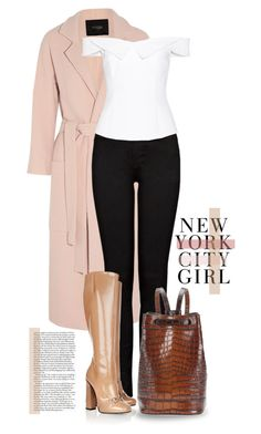 """NY City Girl"" by catarina-lau-sousa ❤ liked on Polyvore featuring Maje, J Brand, Gucci, Opening Ceremony, Tomas Maier and H&M Gucci Boots, Maje, City Girl, Opening Ceremony, J Brand, Polyvore, Dresses, Fashion, Vestidos"