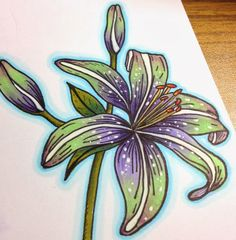 The Daily Marker: a coloring tutorial using a white gel pen with Copic markers