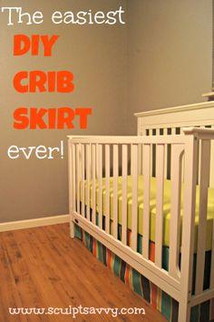 DIY crib skirt