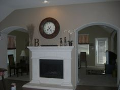 Double Sided Fireplace!!!! Finished!, This is what you see as soon as you walk into my house it is a double sided fireplace I was very confu...