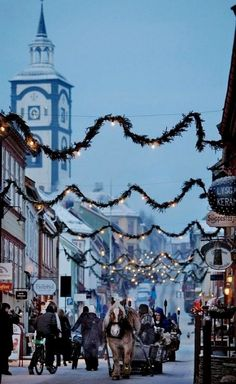 Christmas in Røros, Norway