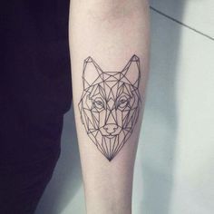 What does animal tattoo mean? We have animal tattoo ideas, designs, symbolism and we explain the meaning behind the tattoo. Wolf Tattoos, Animal Tattoos, Thigh Tattoos, Tatoos, Geometric Wolf Tattoo, Tribal Wolf Tattoo, Geometric Animal, Husky Tattoo, I Tattoo