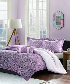 Another great find on #zulily! Purple Paisley Brooke Comforter Set #zulilyfinds