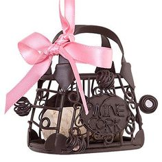 Handbag Cork Cage Bottle Ornament  Great Christmas Bar Decor * This is an Amazon Affiliate link. You can get more details by clicking on the image.