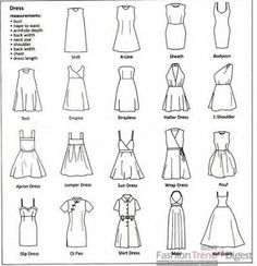 Types Of Dresses Ideas the ultimate clothing style guide sewing patterns sewing Types Of Dresses. Here is Types Of Dresses Ideas for you. Types Of Dresses type of dresses weddings dresses. Types Of Dresses the ultimate clothing st. Sewing Patterns Free, Free Sewing, Sewing Tutorials, Clothing Patterns, Dress Patterns, Sewing Projects, Sewing Tips, Sewing Hacks, Pattern Sewing