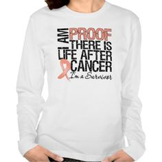 Uterine Cancer Proof There is Life After Cancer Tee Shirt (more styles available) #lifestyle #shirt