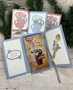 Christmas Craft Show, Stampin Up Christmas, Christmas Mood, Christmas Presents, Diy Presents, Diy Gifts, Relaxation Gifts, Marianne Design, Homemade Christmas Gifts