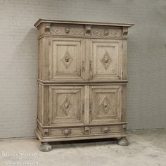 Country French Quatrefollet (four door armoire)