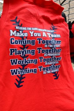 Kobi's Softball team practice shirt! #7