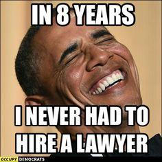 Thank God. You the man, Mr. President Barack Obama.