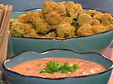 Cajun fried okra, Paula Deen style. I mean, who doesn't love fried okra? [on my list of recipes to try someday when I'm bored]