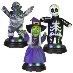 Gemmy Halloween Plastic Assorted Ravers Lighted Musical Tabletop Holiday Decoration  12.98 each