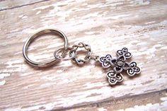Key ring Cross key chain Key holder by HeavenlyTreasuresLG on Etsy