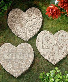 Heart Stepping Stone Set