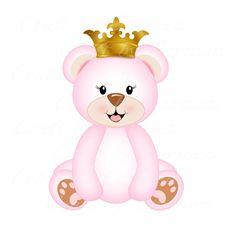 Princesa ursa principe urso ursinhos arte digital by CraftbyCarmen