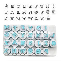 26pcs Uppercase Alphabet Letter Cookie Cutters Cake Decor Biscuit Stamp Mould