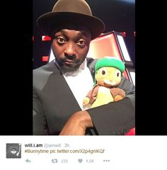 Will.i.am with his very own Benjamin Bunny!