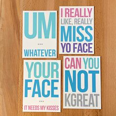 New snark in Sara Does Shop! Passive Aggressive Besties Set of 4 Blank Note Cards | Snarky Funny Sarcastic Best Friend Mean Girls College Roommate Thank You Greetings