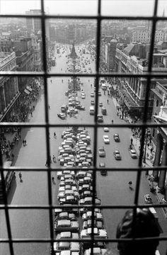 View of O'Connell Street from Nelson's Pillar, Dublin 1964 by Erich Hartmann