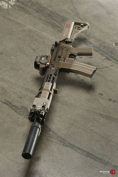 Suppressed defense rifle with EOtech