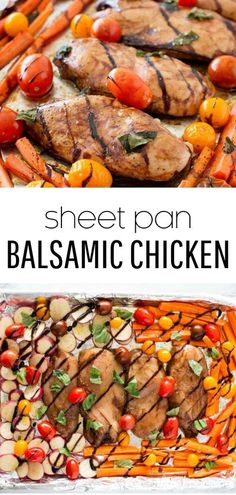 This one-pan balsamic chicken and veggies is a healthy, EASY and delicious dinner recipe that's full of flavor. A meal the whole family will love! #sheetpan #sheetpanmeals #sheetpandinners #balsamic #balsamicglaze #balsamicchicken #chicken #chickenrecipes #healthy #healthyrecipes #onepan #onepanmeals #whole30 #whole30dinners #recipes #iheartnaptime