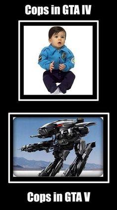 Cops in GTA IV and V