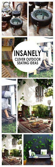 Outdoor seating, easy outdoor seating, outdoor living, popular pin, porch furniture, DIY porch furniture.
