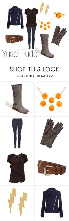 """""""Yusei Fudo"""" by ja-vy ❤ liked on Polyvore featuring Eric Michael, Kenneth Jay Lane, Superfine, Forzieri, Étoile Isabel Marant, Hobbs, Planet, Robindira Unsworth, yu-gi-oh 5d's and yusei fudo"""
