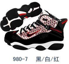 0dcf2c0df81 Air Jordan 6 Rings Basketball Shoes High Black White Red Black White Red