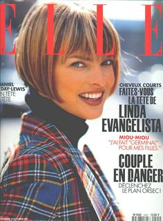 Linda by Gilles Bensimon, 1993 :: Bob - no doubt about it, this supermodel came on the scene when she cut her hair.