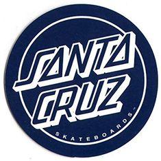 Amazon.com : Santa Cruz Classic Blue Logo Skateboard Sticker - skate skating skateboarding : Sports & Outdoors