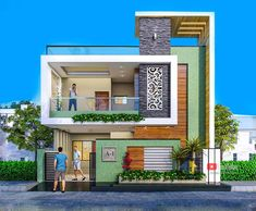 House Balcony Design, House Outer Design, Single Floor House Design, Modern Small House Design, 2 Storey House Design, House Outside Design, Modern Exterior House Designs, Village House Design, Kerala House Design