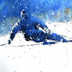 Skii Typography Ads, Ad Design, Graphic Design, Snow Bunnies, Sports Art, Blue Art, Skiing, Knitting Ideas, Abstract