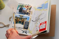Natalie Ratkovski's travel journal. I like the interactive approach to all her flaps.