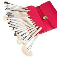 2014 nuevos, alta calidad 26pcs de estilo bolsa de cepillos para el pelo de los animales de color rosa de pincel de maquillaje herramientas de pincel natural enclavado pelo de cabra