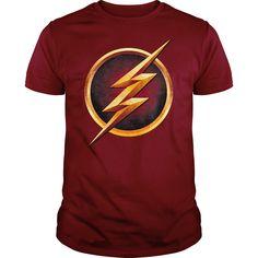 (Top Tshirt Fashion) THE FLASH CHEST LOGO at Tshirt Family Hoodies, Funny Tee Shirts