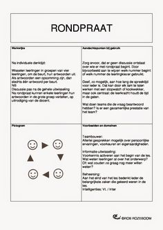 Onderwijs en zo voort ........: 1128. Coöperatieve werkvormen : Kaart 13-18 School Lessons, School Hacks, Co Teaching, School Tool, Training Materials, Flipped Classroom, Cooperative Learning, Teamwork, Classroom Management